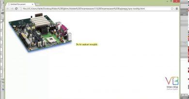 Ders 22: Adobe Dreamweaver Insert > Javascript Spry Tooltip