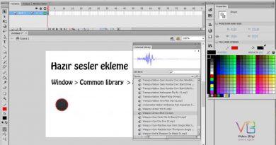 Ders 28: Adobe Flash Sounds Library Hazır sesler